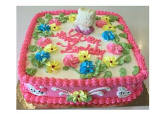 Kitty Girl Birthday Cake