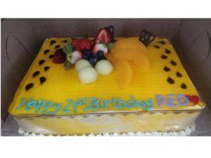 Mango Mousse Birthday Cake