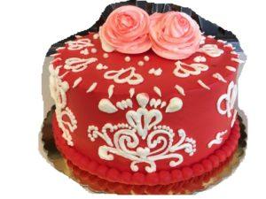 Rose-Valentine's Cake