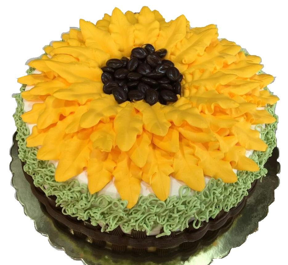 Sun Flower Custom Cake